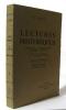 Lectures historiques premier volume des origines à 1610. Hénon M