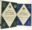 Revue historique de l'armée 2 numéros année 1970 - numéros 3 et 4. Jouin