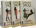 Ramsès T 1 Le Fils de Lumière - T2  Le temple es millions d'années - T3  La bataille de Kadesh ---3 livres tomes un à trois. Christian Jacq