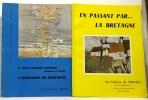 Les cahiers de l'Iroise année 1970 complète en quatre numéros: N°1: Jean Jacques Morvan  Ecrivains en Bretagne + N°2: En passant par la Bretagne + ...