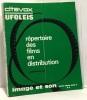 Répertoire des films en distribution septembre 1968 - image et son hors série ADV 3 citévox ufoléis. Collectif