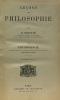 Leçons de philosophie - tome premier Psychologie - troisième édition. Roustan