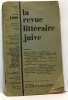 La revue littéraire juive n°7 juillet 1928. Gheler (directeur)