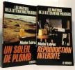 Reproduction interdite + Un soleil de plomb --- 2 livres. Michel Lebrun