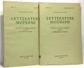 Letterature moderne - università Bocconi Anno 1 n°2 - settembre 1950 + anno IV n°1 gennaio febbraio 1953 ---- 2 numéros. Flora Francesco