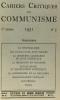 Cahiers critiques du communisme - marxisme communisme soviétisme - revue mensuelle N°1-2-3-5 ---1951. Collectif