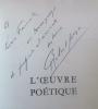 L'Oeuvre poétique. Orénoque - Lespugue - Rivières - Domaine - Language - Colère - Résurgences.. GANZO (Robert).
