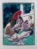La Leçon d'Amour dans un Parc. Illustré de 45 aquarelles de Pierre Brissaud reproduites au pochoir et retouchées à la main.. [BRISSAUD (Pierre)] - ...
