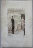 """Eau-forte originale sur parchemin, frontispice du volume II du livre """"Les Caves du Vatican"""" de André Gide.. --Epreuve unique sur Parchemin-- LABOUREUR ..."""