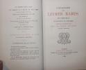 Catalogue des Livres Rares et Précieux, Manuscrits et Imprimés composant le Bibliothèque de feu M. Emile Müller, notaire à Bruxelles.. [Bibliographie ...