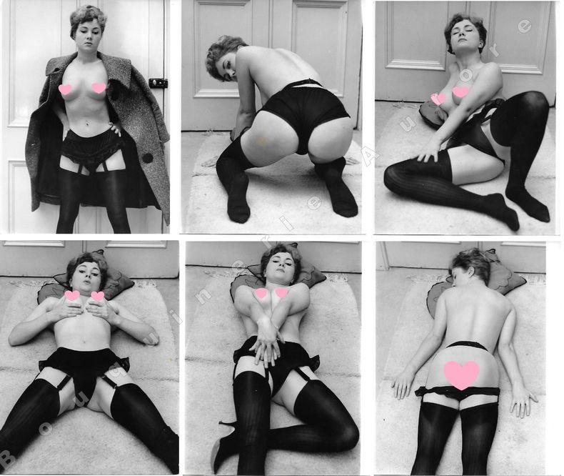 """Anne Mattinley nue.6 Photographies originales en tirage argentique.. Fonds de la célèbre revue de Charme """"Paris-Hollywood"""" - Eric WILKINS, ..."""