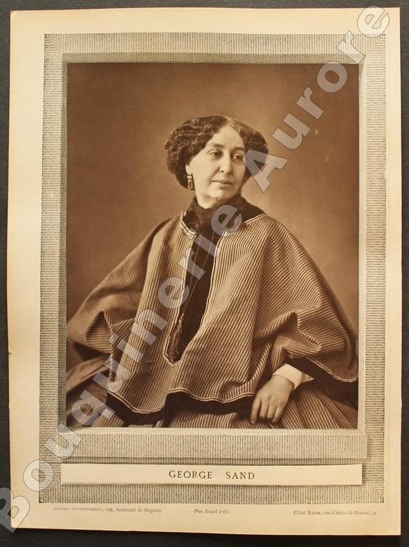 Portrait photographique de George SAND, cliché de NADAR.. [SAND (George)] - NADAR - Galerie Contemporaine.