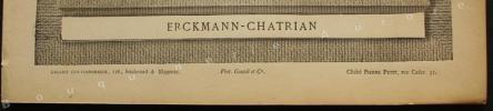 Portrait photographique de ERCKMANN-CHATRIAN, cliché de Pierre Petit.. [ERCKMANN-CHATRIAN] - Pierre PETIT - Galerie Contemporaine.
