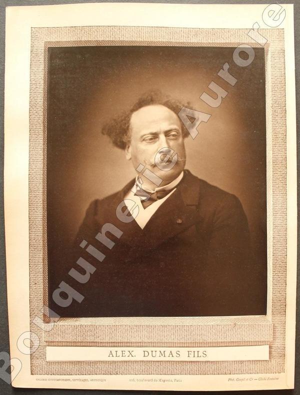 Portrait photographique de Alexandre Dumas Fils, cliché de Fontaine.. [DUMAS FILS (Alexandre)] - FONTAINE - Galerie Contemporaine.