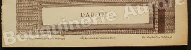 Portrait photographique de Alphonse Daudet, cliché de Carjat.. [DAUDET (Alphonse)] - CARJAT - Galerie Contemporaine.