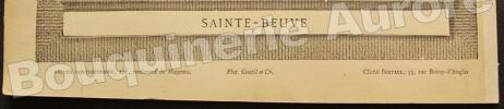 Portrait photographique de Sainte-Beuve, cliché de Bertall.. [SAINTE-BEUVE] - BERTALL - Galerie Contemporaine.