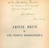 Aricie Brun ou les vertus bourgeoises. (Moeurs d'autrefois).. HENRIOT (Emile).