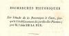 Recherches historiques sur l'étude de la Botanique à Caen, jusqu'à l'établissement du jardin des Plantes.. LA RUE (Abbé Gervais de).