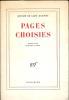 Pages choisies.. SAINT-EXUPERY (Antoine de).