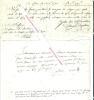 3 documents bancaires et judiciaires autographes concernant des dettes de M. Lambert, Banquier à Paris.. LAMBERT - Banquier à Paris.