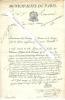 Pièce autographe signée de Jean-Joseph Choron, administrateur des Domaines & Finances de Paris.. [MUNICIPALITE DE PARIS] - Jean-Joseph CHORON - ...