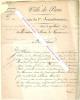 Lettre signée de Cretté de Palluel, Maire du 3e arrondissement de Paris.. Alexandre-César CRETTE DE PALLUEL (1766-1848) - Maire du 3e arrondissement ...
