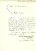 Lettre autographe signée de MOLINIER-MONTPLAQUA, Maire du 12e arrondissement de Paris.. MOLINIER-MONTPLANQUA - Avocat à la Cour de Cassation, Maire du ...