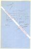 Lettre autographe signée de Benjamin Antier, créateur du personnage de Robert Macaire.. Benjamin ANTIER (Benjamin CHEVRILLON, dit) (1787-1870) - ...