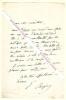Lettre autographe signée d'Emile Augier, Poète et dramaturge français.. Emile AUGIER (1820-1889) - Poète et dramaturge français.