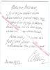 Carte de visite autographe signée du Duc de Castries, Historien français, membre de l'académie Française.. Duc de CASTRIES (René de la Croix de ...
