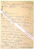 Carte autographe signée de Félicien Challaye, Philosophe et journaliste anticolonialiste, Dreyfusard, rédacteur des Cahiers de la Quinzaine de Charles ...