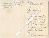 Lettre autographe signée d'Auguste Dorchain, Poète et auteur dramatique français, adressée au peintre Carolus-Duran.. Auguste DORCHAIN (1857-1930) - ...