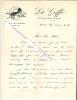 """Lettre autographe signée de Jean Laffray, Journaliste, directeur de """" La Griffe """", auteur d'un ouvrage sur l'aviation.. Jean LAFFRAY (dates inconnues) ..."""