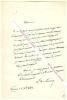 Lettre autographe signée de Louis de Loménie, Homme de lettre et essayiste français, membre de l'Académie Française.. Louis de LOMENIE (1815-1878) - ...