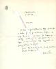 Lettre autographe signée de Gaston RIOU, Ecrivain et homme politique, député de l'Ardèche sous la 3e République.. Gaston RIOU (1883-1958) - Ecrivain ...