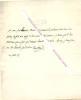 Lettre autographe signée de ROYER-COLLARD, Homme politique libéral et philosophe français.. ROYER-COLLARD (Pierre-Paul Royer, dit) (1763-1845) - Homme ...