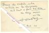 Carte autographe signée de Paul SOUDAY, Critique littéraire et essayiste français.. Paul SOUDAY (1869-1929) - Critique littéraire et essayiste ...