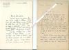 Importante correspondance autographe signée de Maurice TOESCA (Maurice ROYA, dit), Ecrivain et homme politique (9 lettres et 2 cartes) adressée à Jean ...