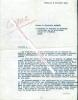 Copie dactylographiée d'une Lettre de la Générale Gamelin au Colonel de Bonneval à l'Elysée.. [Général GAMELIN] - Madame la Générale GAMELIN.