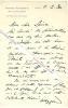 Lettre autographe signée de Maxime WEYGAND (1867-1965) - Général français, membre de l'Académie Française.. Maxime WEYGAND (1867-1965) - Général ...