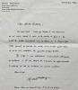 Lettre à Michel Bulteau (octobre 1996).. WALDBERG (Michel).