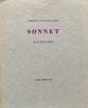 Sonnet.. VILLIERS DE L'ISLE ADAM (Auguste), MESSAGIER (Jean).