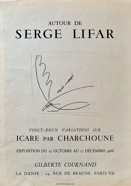 Autour de Serge Lifar, Vingt-deux variations sur Icare par Charchoune. . CHARCHOUNE (Serge).