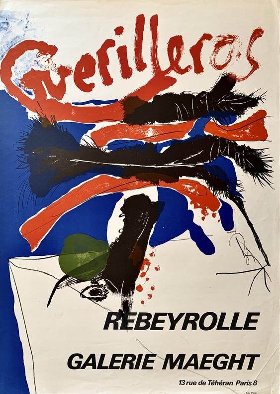 Guerilleros. Rebeyrolle. Galerie Maeght, 13 rue de Téhéran, Paris 9.. REBEYROLLE (Paul).
