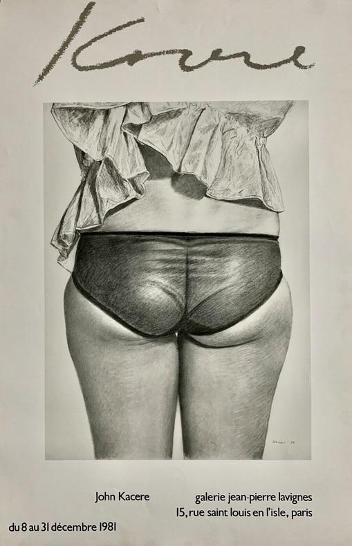 John Kacere, galerie Jean-Pierre Lavignes, 15 rue Saint-Louis-en-L'Isle, Paris. Du 8 au 31 décembre 1981.. KACERE (John).