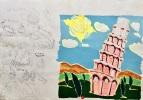 La Tour de Pise, essai de maquette pour une pochette de CD.. (BAZOOKA), CLAVEL (Olivia), COEN (Jean-François).
