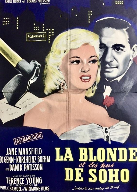 La Blonde et les nus de Soho. (Too Hot To Handle.). YOUNG (Terence), MANSFIELD (Jane).