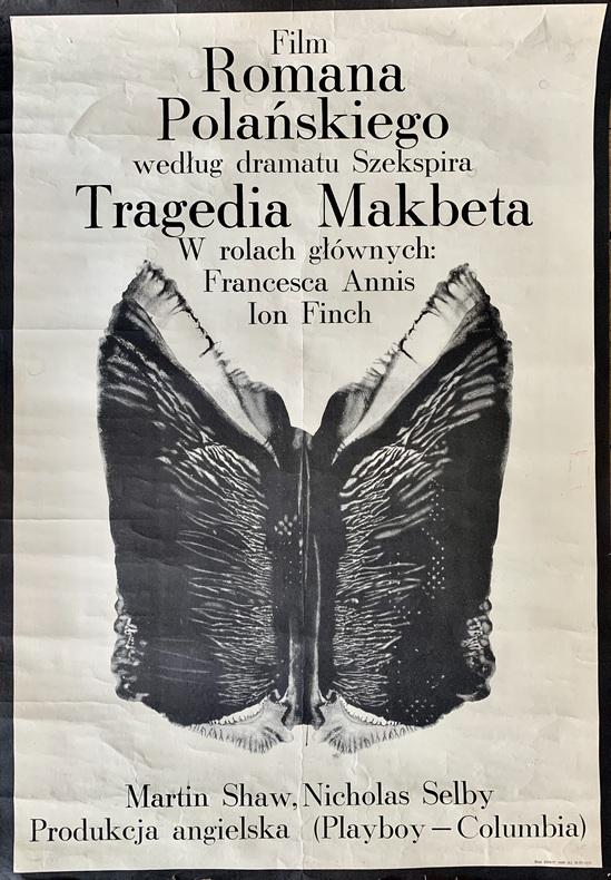 Film Romana Polanskiego Tragedia Makbeta (Macbeth). . POLANSKI (Roman).