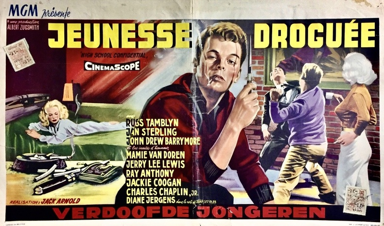 Jeunesse droguée (High School Confidential).. ARNOLD (Jack), TAMBLYN (Russ), LEWIS (Jerry Lee).