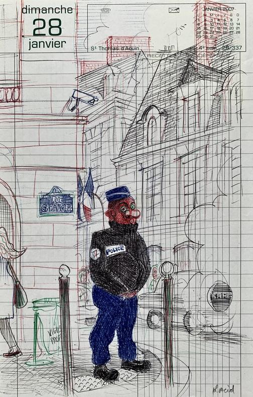 Agent de police.. (GRAPHZINE) PLACID (Jean-François DUVAL, dit).